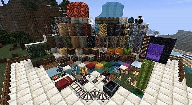 Shaders / Шейдеры для Minecraft 1.4.4. Карта Пак средневековых построек 2