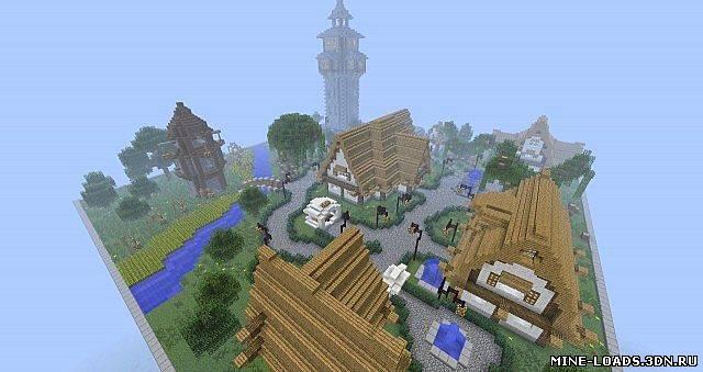 Деревня (Карта) - Карты для Майнкрафтаа
