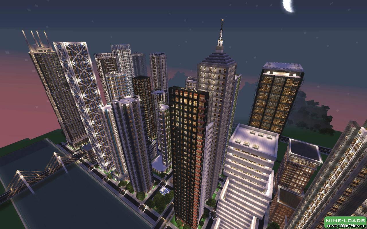майнкрафт карта город нью йорк